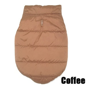 Coffee brown Bubble style dog coat