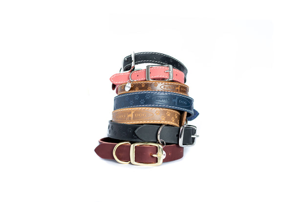 Elegant style soft leather dog collar collection