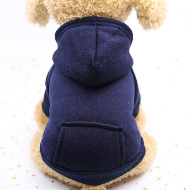 Dark blue  Warm sweater dog hoodie