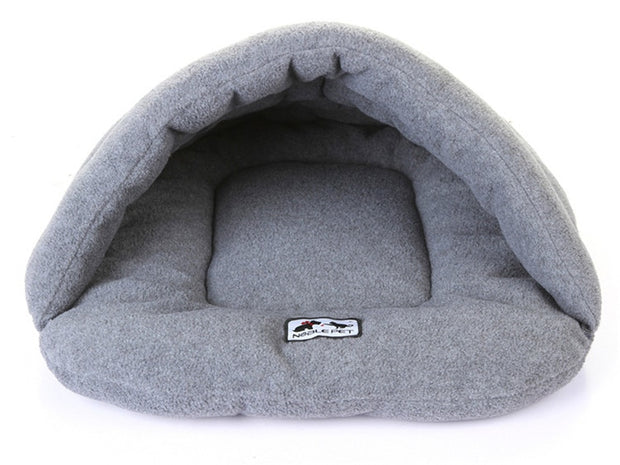 Gray Winter Warm Slippers Style Dog Bed