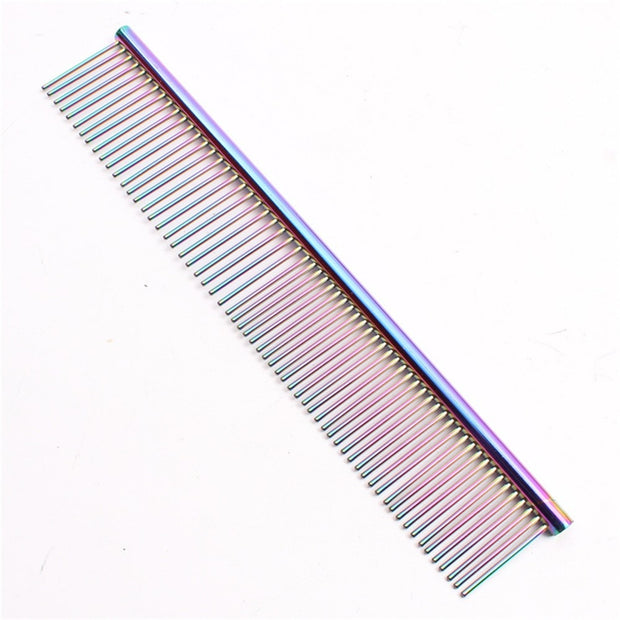 Multi color Dog grooming fine tooth comb