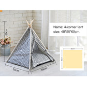 Four corner tent with dimentions Portable Linen Dog Tent and Bed