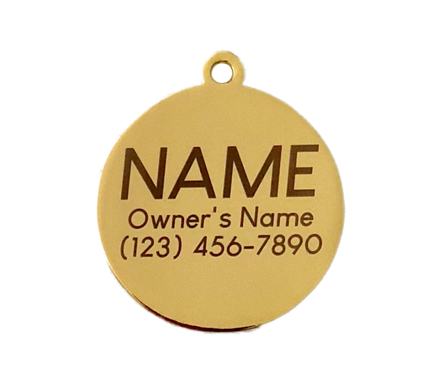 Main squeese lemon shaped dog tag