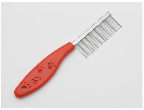 Red Stainless Steel Pin dog comb