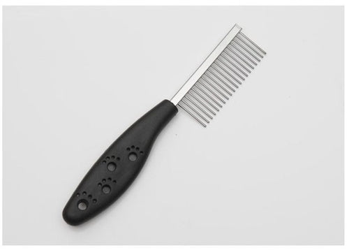 Black Stainless Steel Pin dog comb