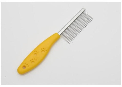 Yellow Stainless Steel Pin dog comb