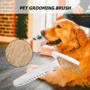 Steel Rake Comb for Short or Long Hair dog with picture of dog