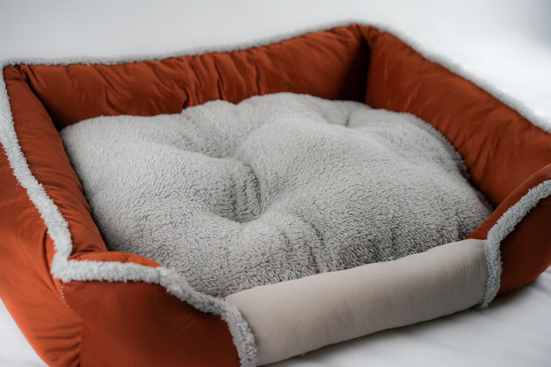 Orange Soft Touch All Seasons 26'' Dog Bed