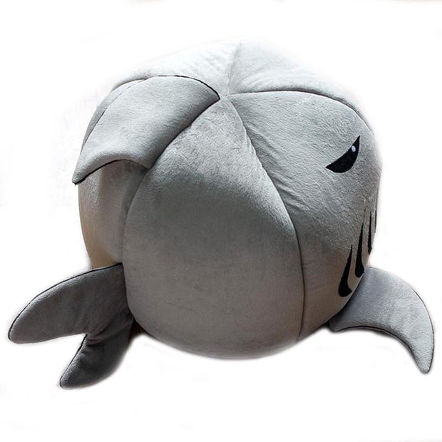Side view of  Cartoon shark dog bed