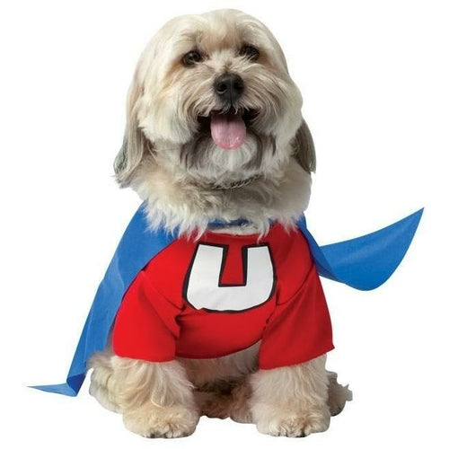 Dog wearing Underdog dog Costume