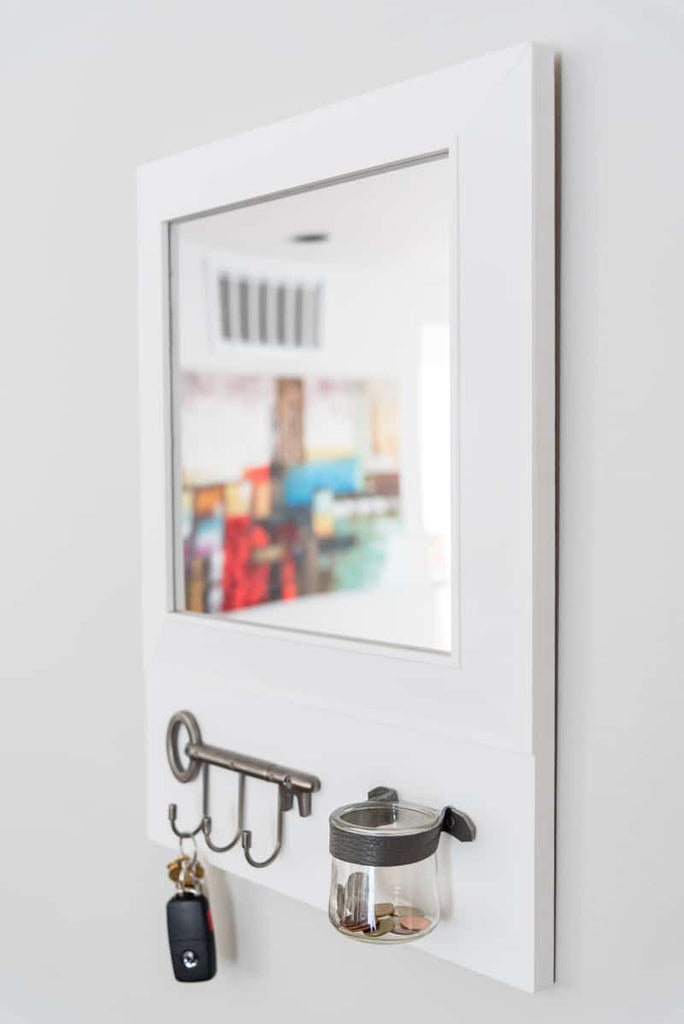 mirror, storage solution, organization, entryway