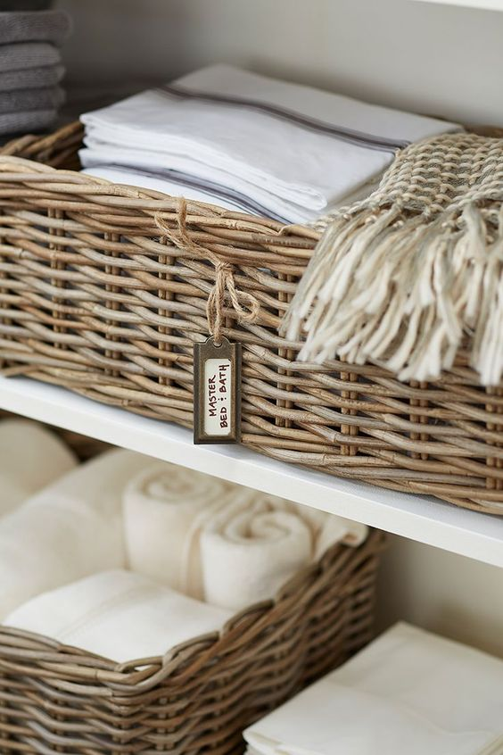 Extra towels and linens for holiday guests
