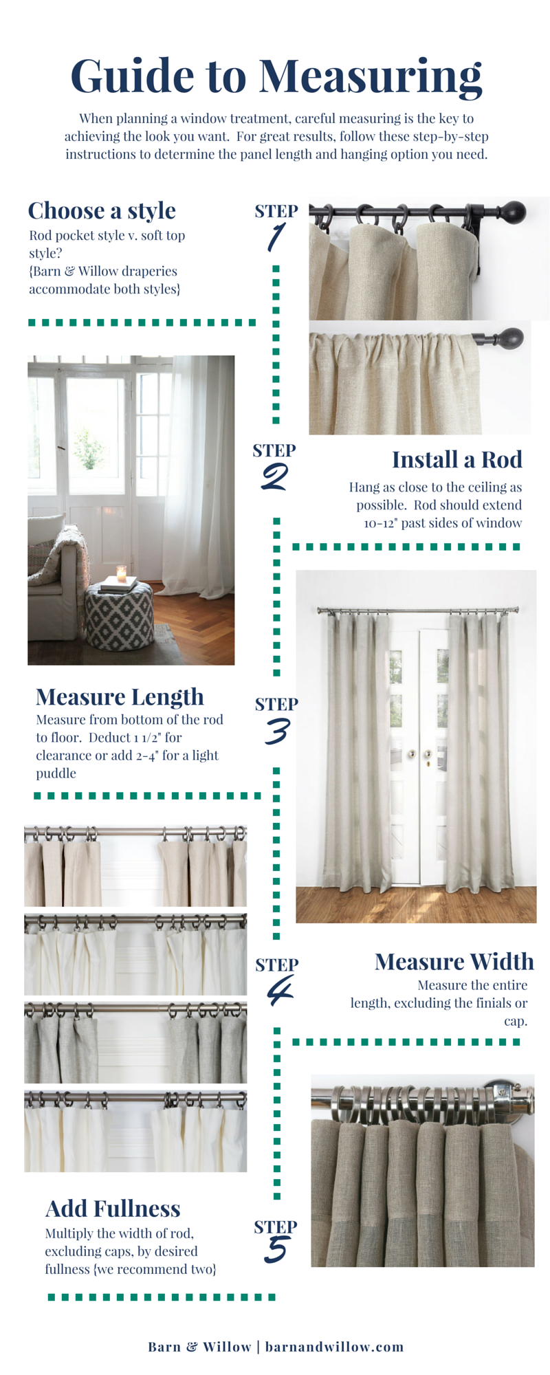 The 5 Step Guide To A Beautiful Drapery Measure