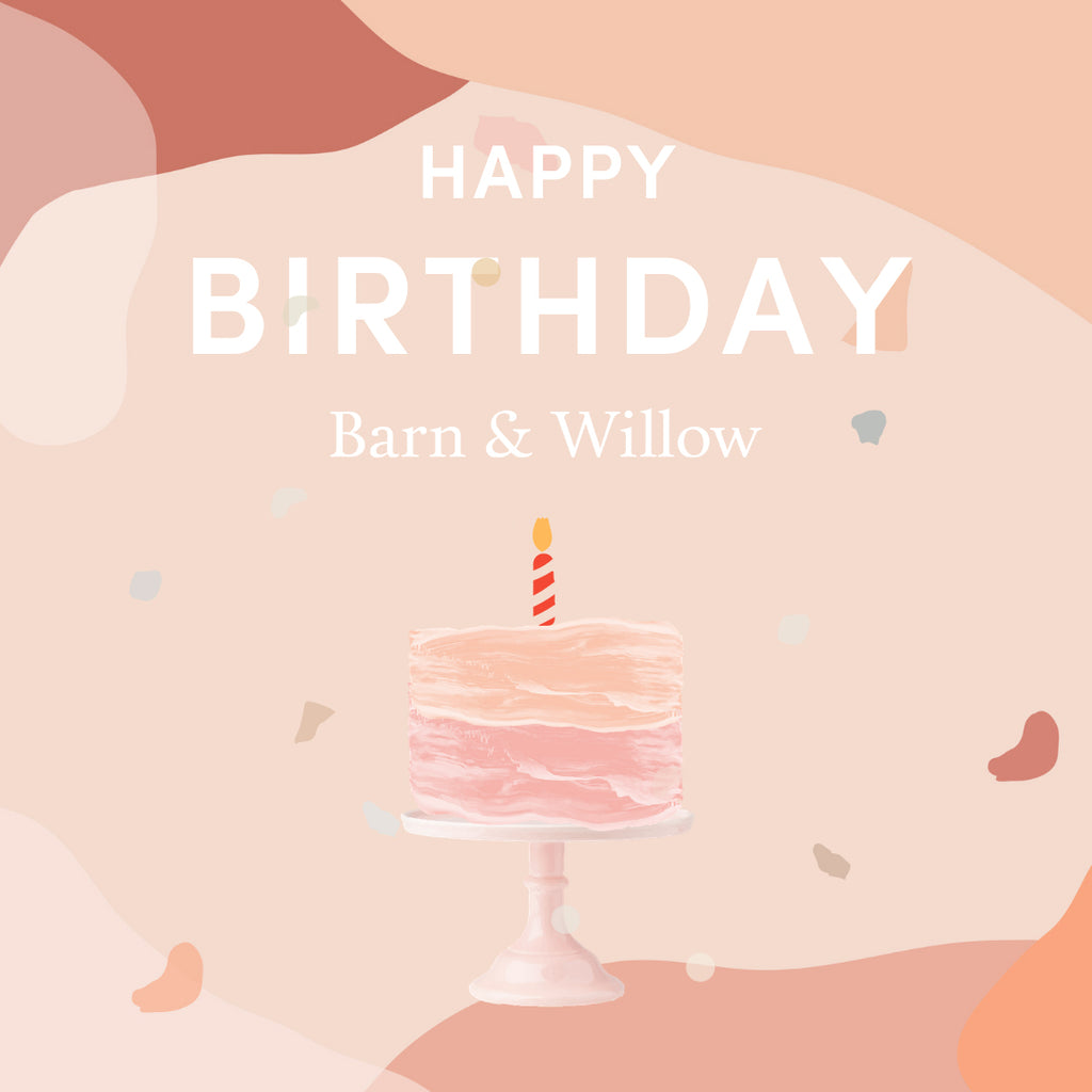 Barn & Willow celebrates its fourth birthday with pink cake and a single candle