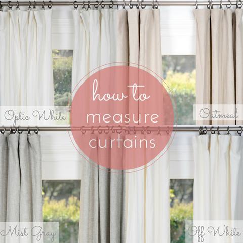 How to Measure for Curtains & Draperies   Rod Pocket ...