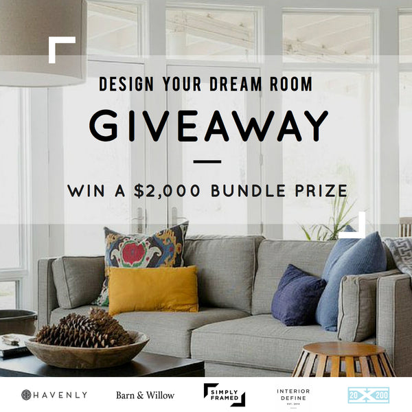 Barn & Willow design your dream room sweepstakes