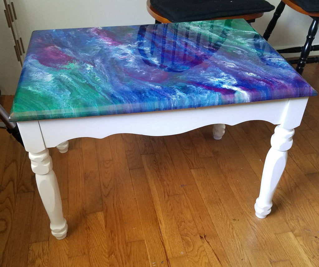 Acrylic Pour Table Design