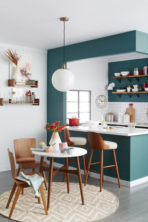 10 accent walls we love | teal accent wall