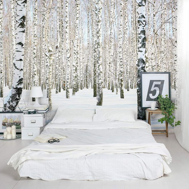 winter burch wall paper - barn and willow