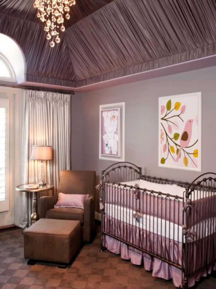 purple luxury nursery - barn and willow
