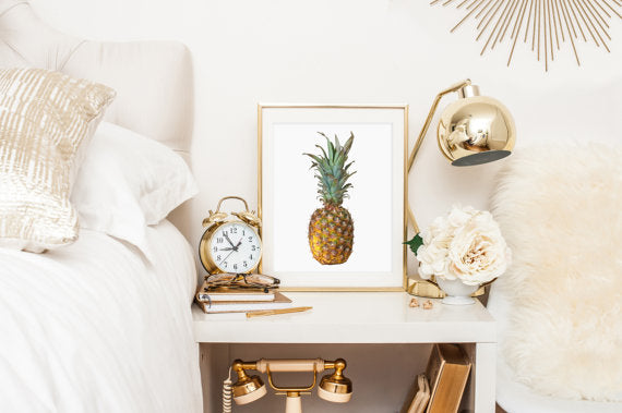 pineapple trend is now in home decor. Barn and willow
