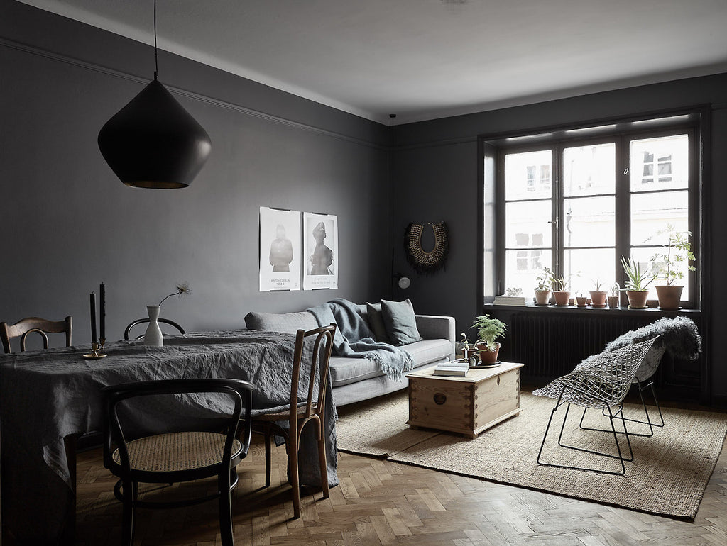Barn & Willow: 7 Reasons to Consider Going for a Gray Interior, Gray Living Dining Room