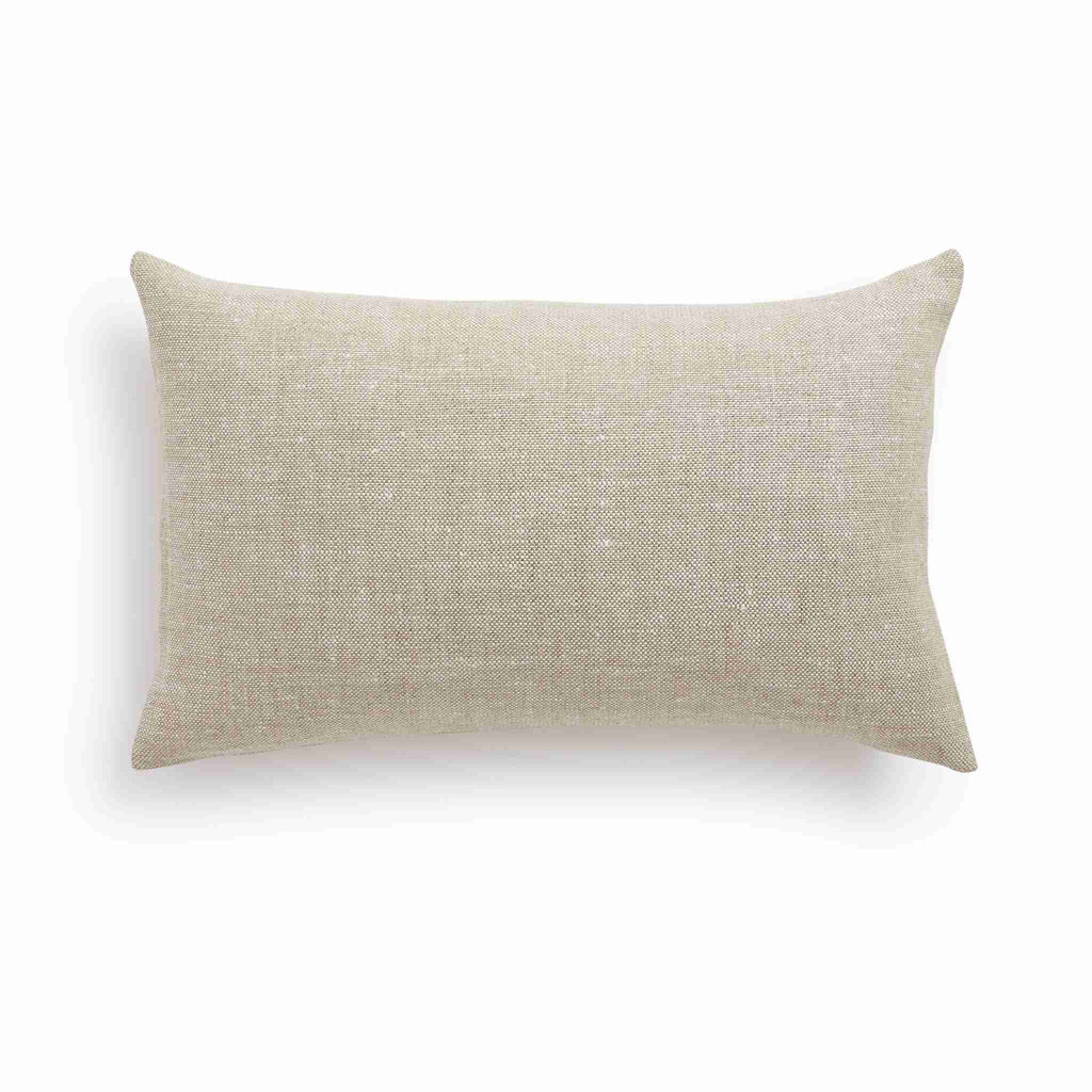 Belgian Linen Lumbar Pillow Cover - Oatmeal