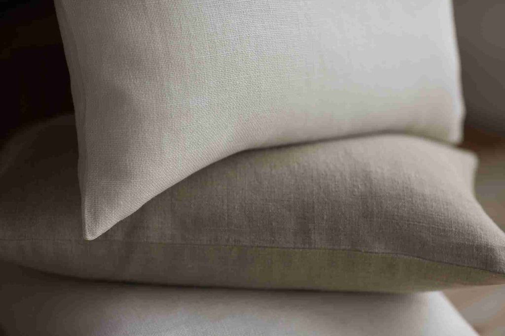 Belgian Linen Pillow Cover - Oyster