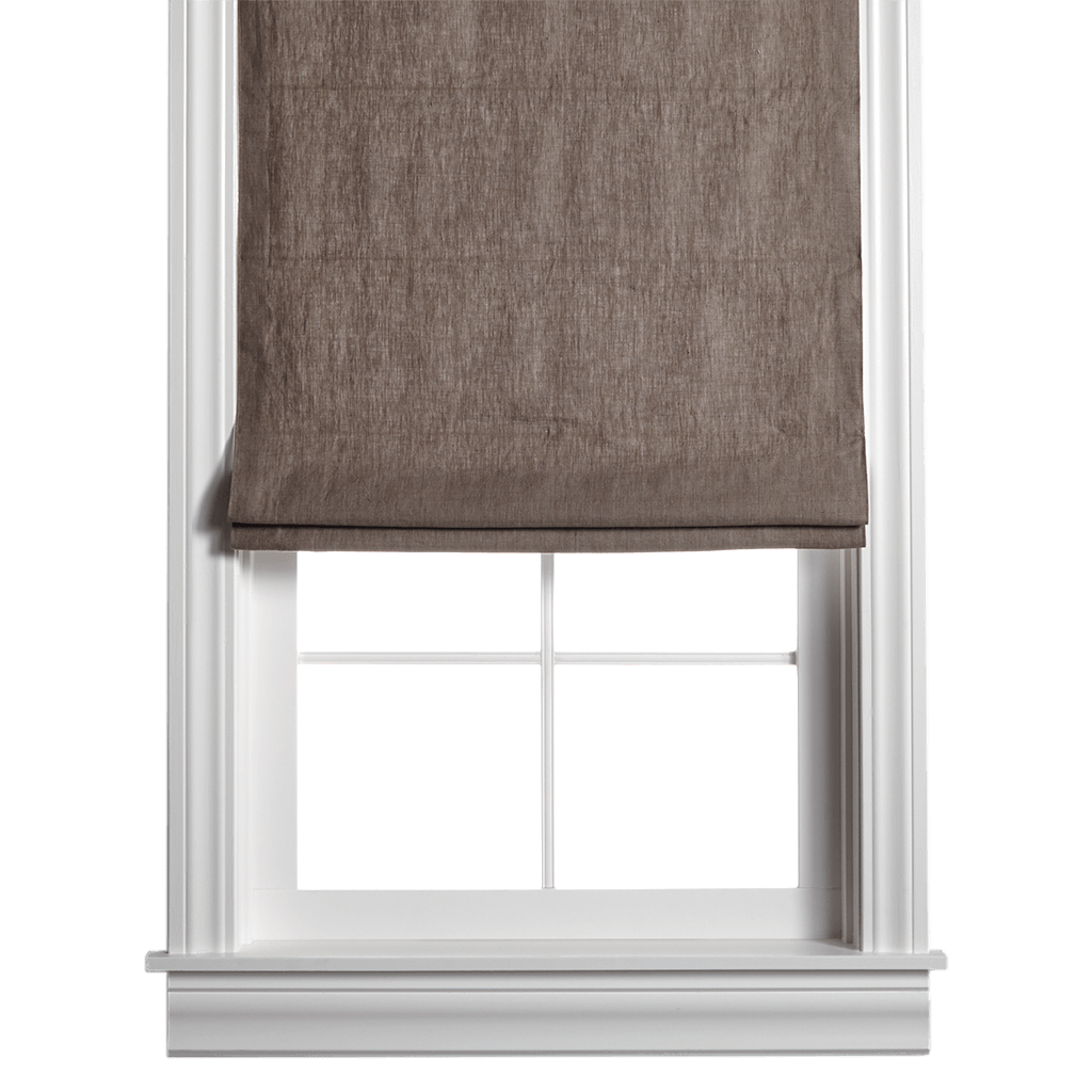linen window shades contemporary belgian flax linen roman shade chocolate custom flat barn and willow