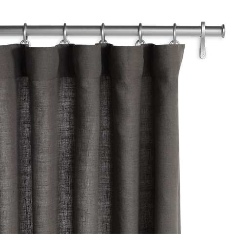 Belgian Linen Laundered - Dark Gray Panel