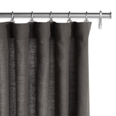Barn & Willow | Belgian Linen Laundered Drapery - Dark Gray product image