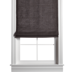 Barn & Willow | Belgian Linen Roman Shade - Dark Gray product image