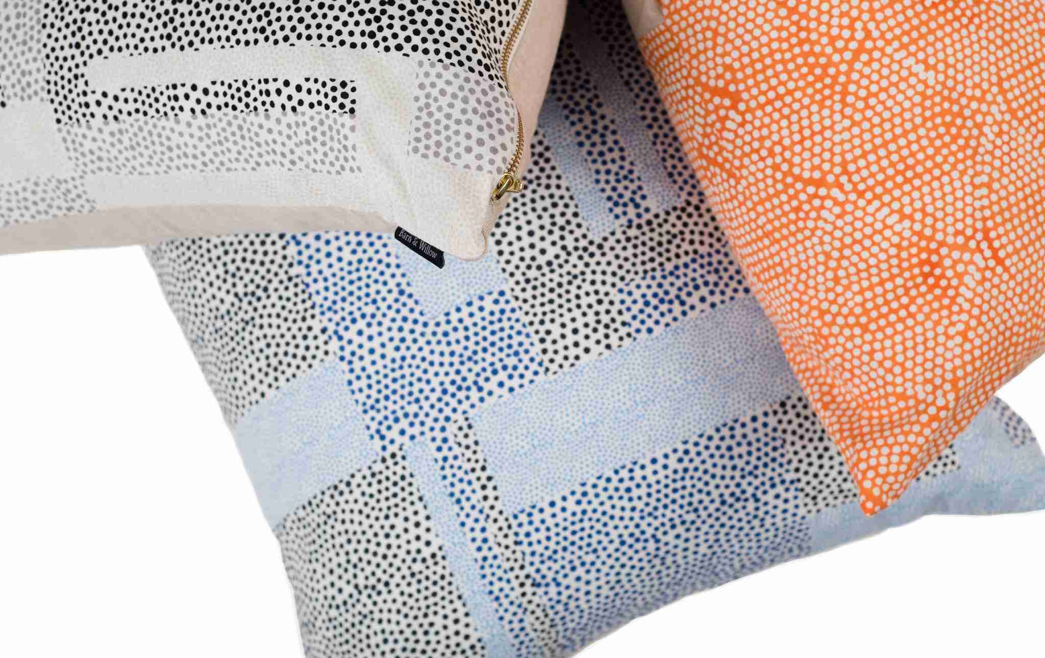 Dots Pillow Cover – Black & Gray Dots