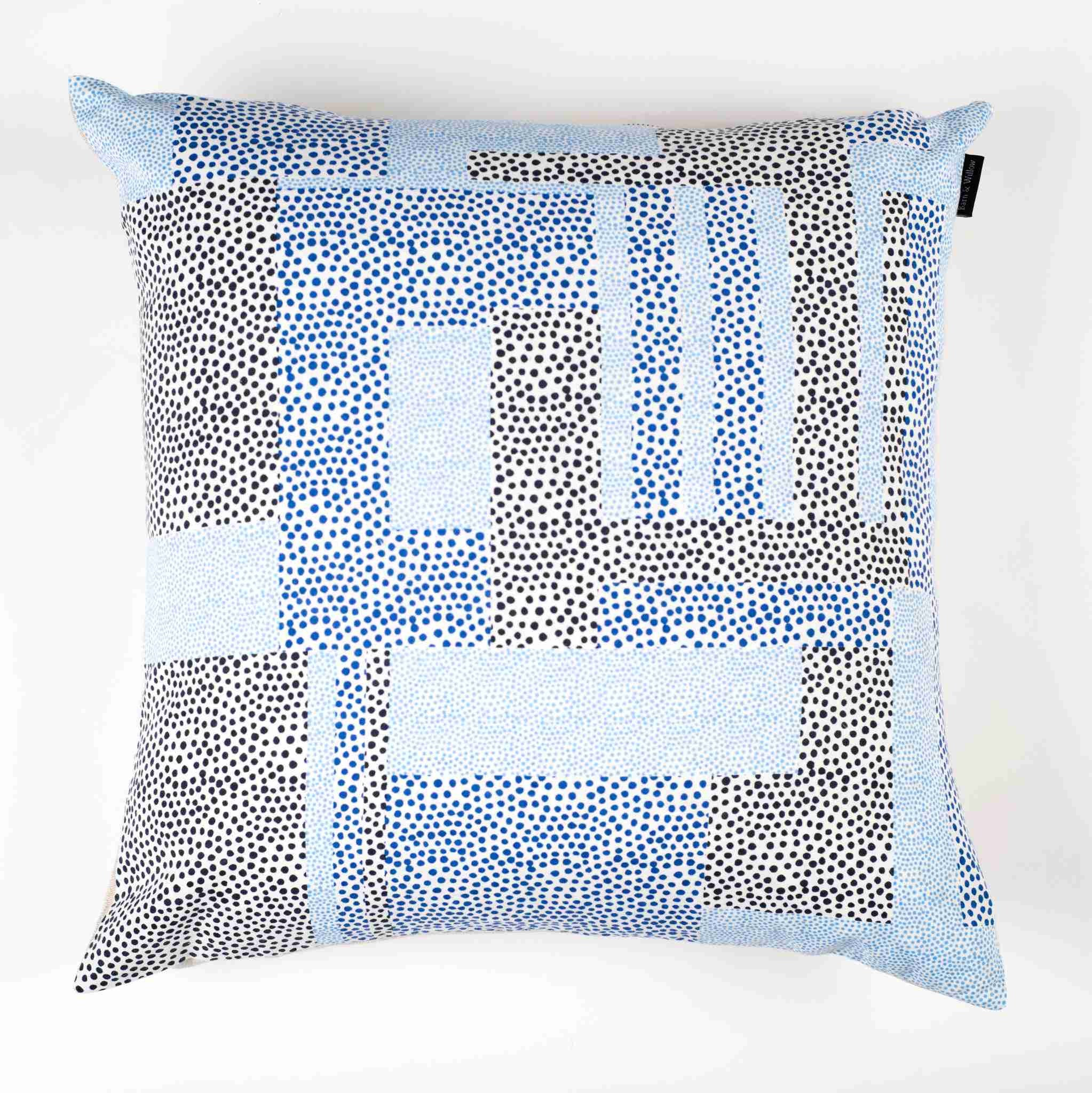 Dots Pillow Cover – Blue & Navy Dots