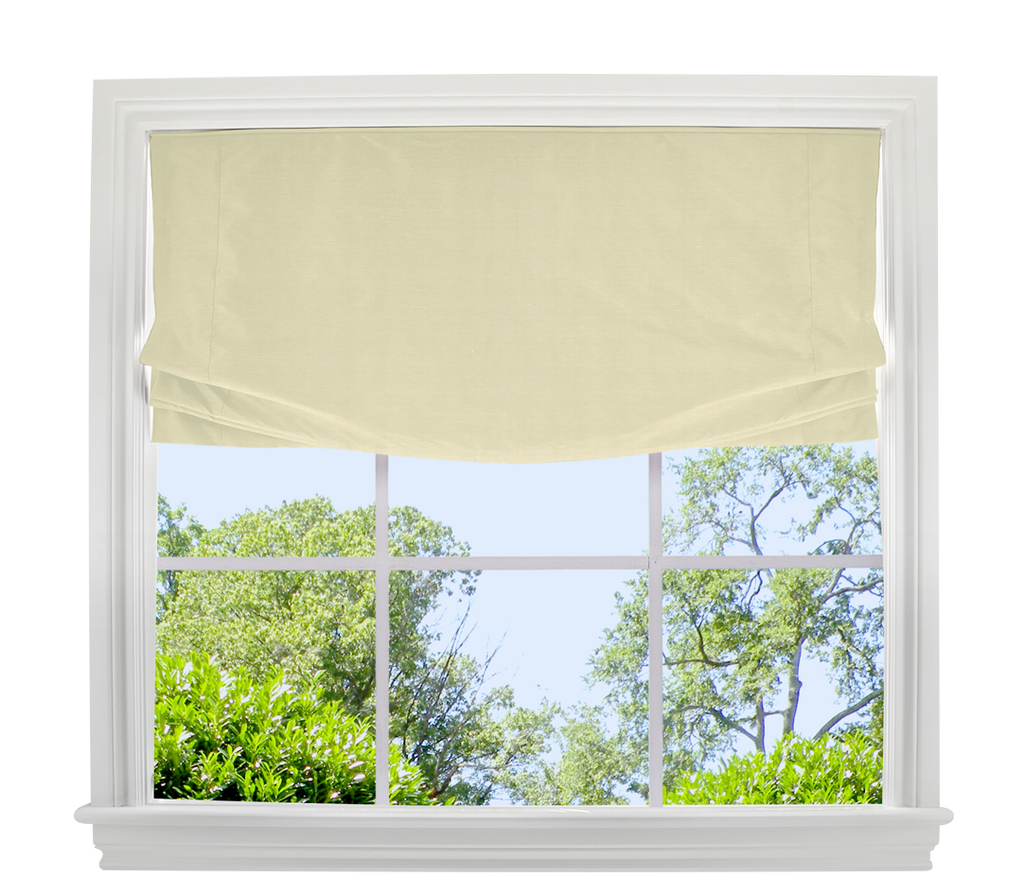 Washed Belgian Linen Roman Shade