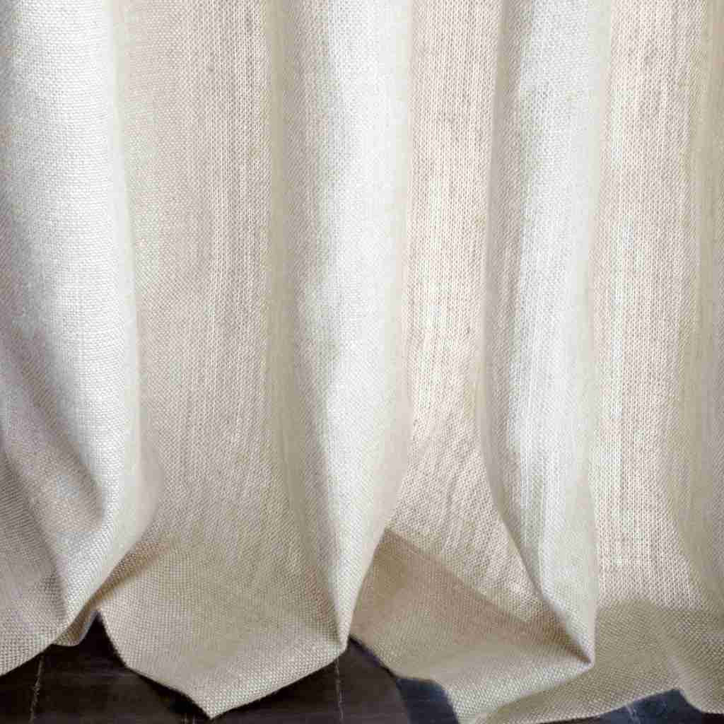 Belgian Textured Linen Oatmeal Puddle