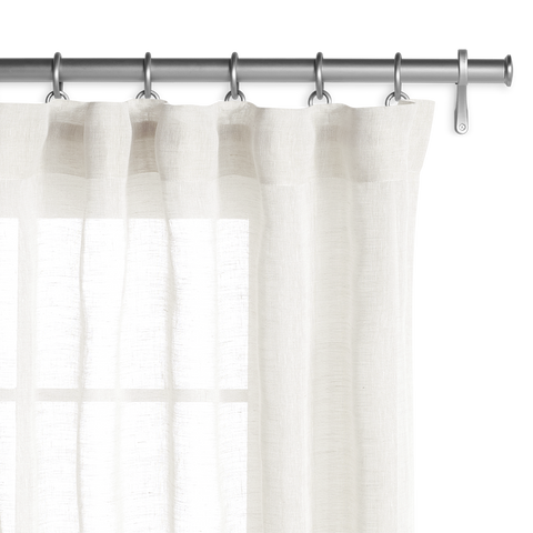 Belgian Sheer Linen - Off White Panel