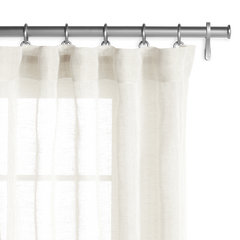 Barn & Willow | Belgian Sheer Linen Drapery - Off White product image