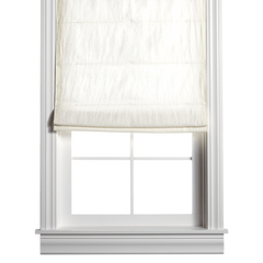 Barn & Willow | Belgian Flax Linen Roman Shade - Off White product image