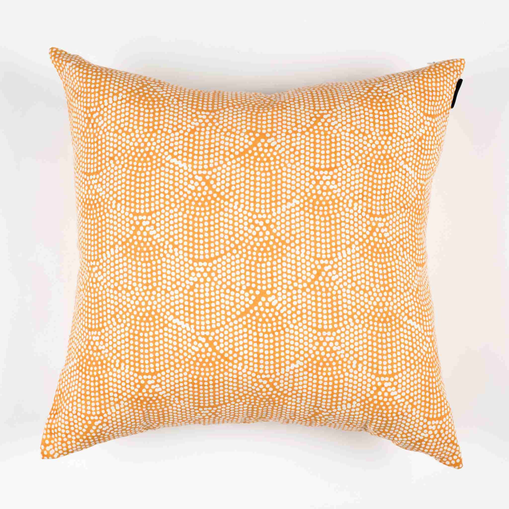Printed Scallops Pillow Cover – Mustard