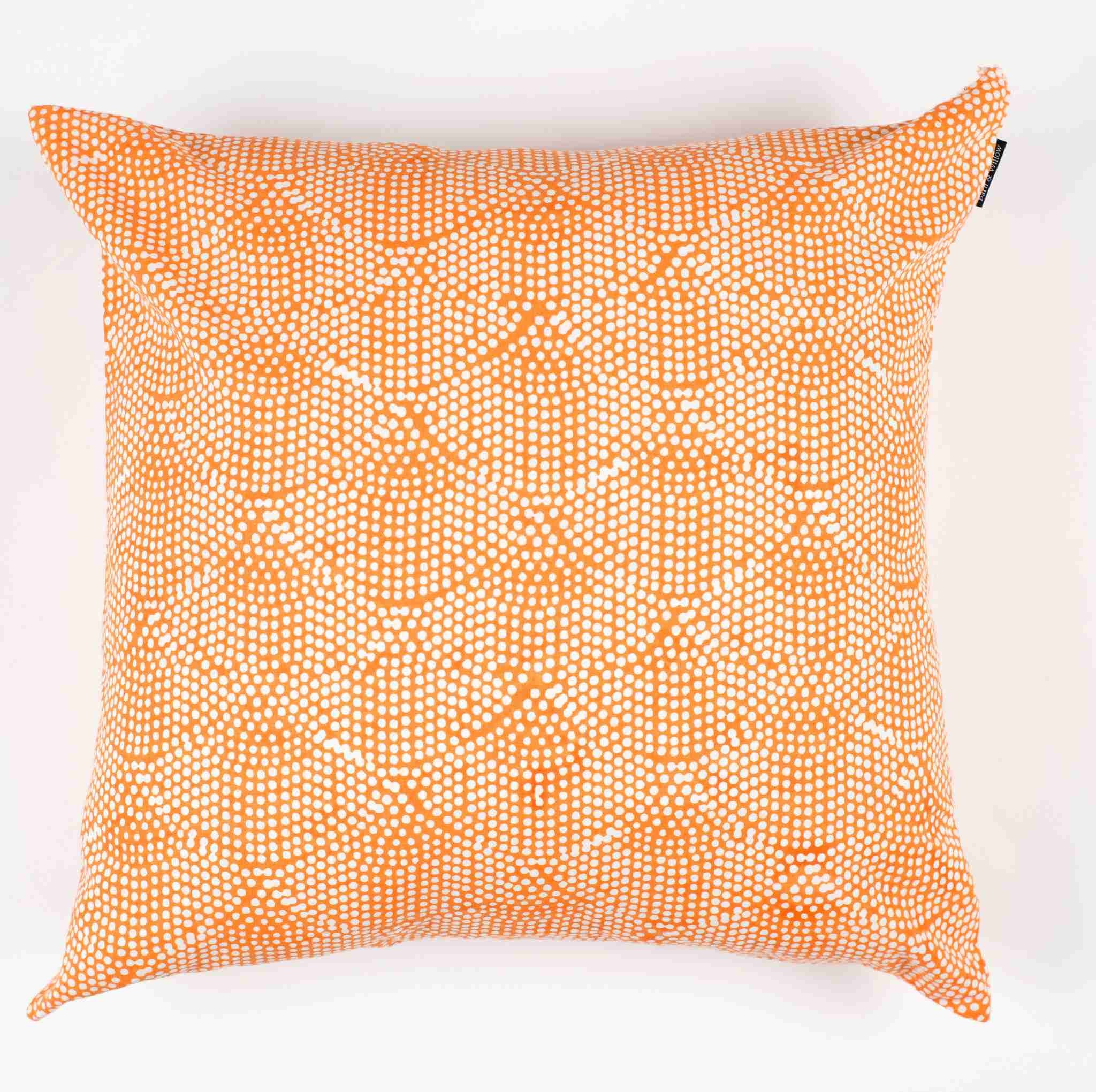 Printed Scallops Pillow Cover – Papaya