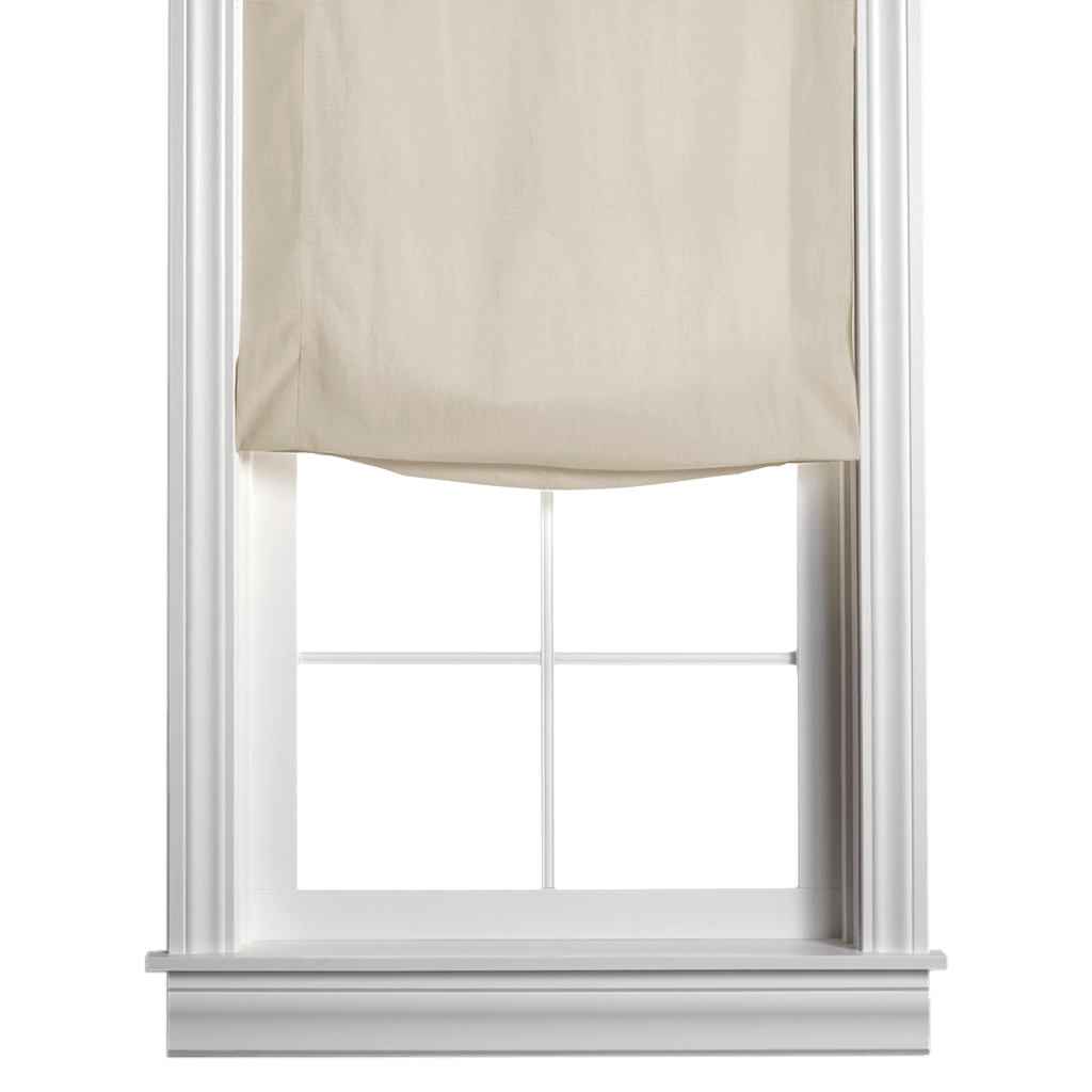 Washed Belgian Linen Roman Shade - Sand