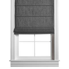 Barn & Willow | Belgian Flax Linen Roman Shade - Stone Gray product image