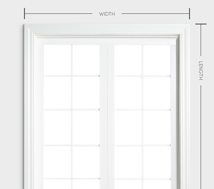 large white window with WxH guides