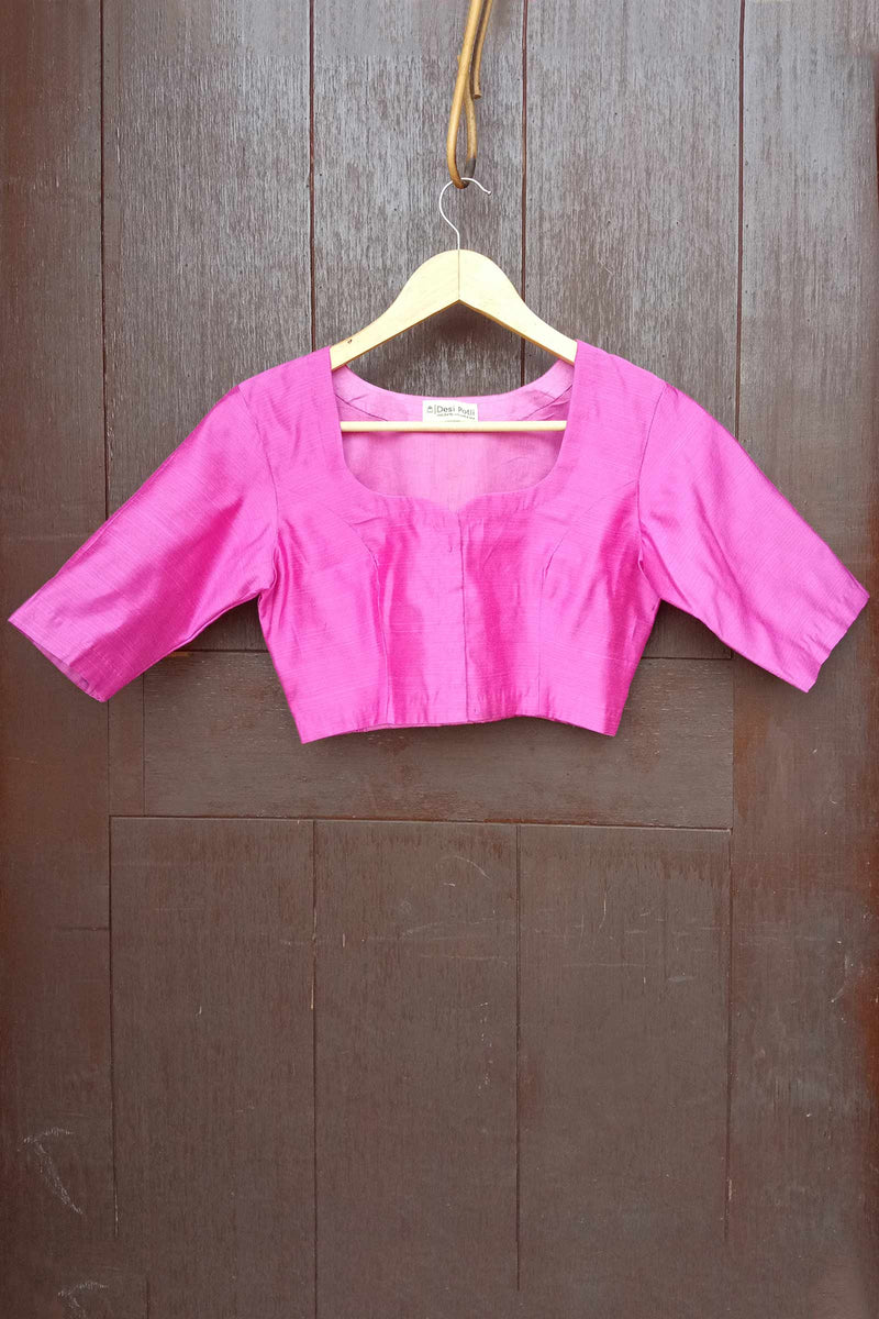 Smudged Pink Dupion Silk Blouse