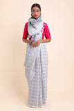 Check Mate Linen Saree