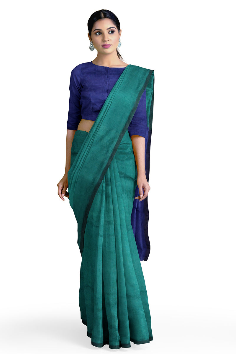 Nephrite Waterhole Cotton Silk Saree