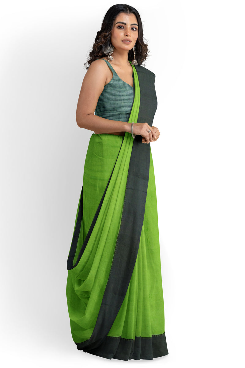 Petrichor Grass Mangalagiri Cotton Saree
