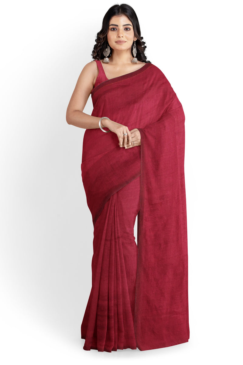 Pinot Intoxication Khadi Cotton Saree