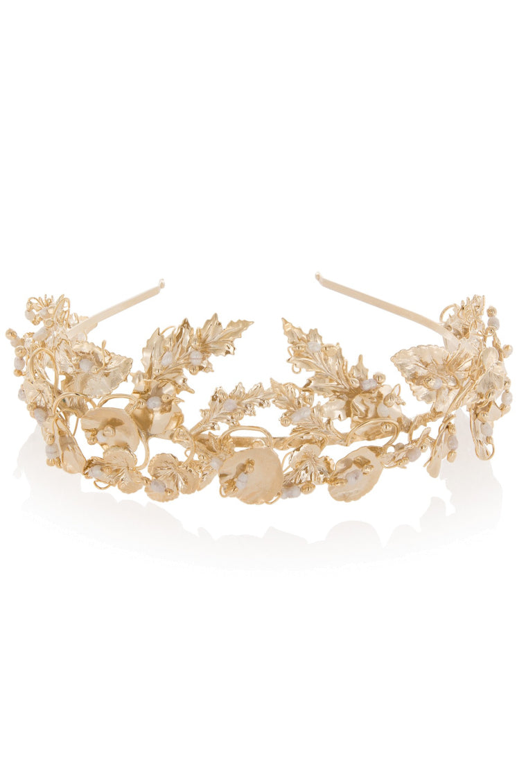 MARIA GOLD DIPPED PEARL HEADBAND